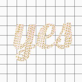 25 Trinkhalme - hellrosa und gold