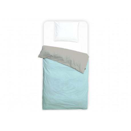 housse de couette imperméable 'grey wood/morning blue' junior (120x150)